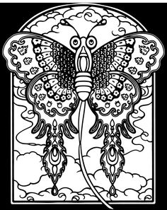 Dover book publishers have free pages of their books every week. I've subscribed to them for many years just to get the free pages. These are usually for education purposes. But the books usually have awesome black and white photos perfect for embroidery. This is from a book called Chinese Kites Stained Glass Coloring Book. Isn't this moth AWESOME!