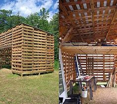 Outdoor storage made from 100% recycled pallets