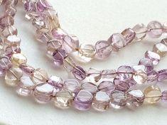 Ametrine Beads Ametrine Plain Coin Beads Ametrine by gemsforjewels