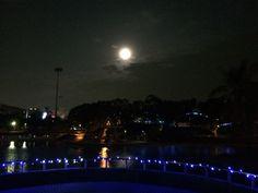 白沙湖.中秋之夜.月亮