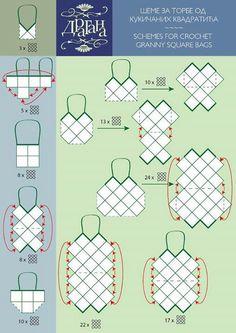 Granny square purse layouts