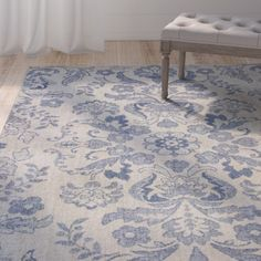 Found it at Wayfair - Baume Ivory/Blue Area Rug