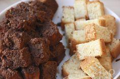 Ingredientes para preparar tiramisú de nutella. Bizcocho mojado con leche y colacao. Receta en el blog.