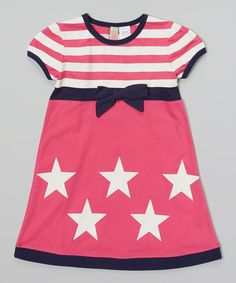 Another great find on Sophie & Sam Pink & White Stripe Star Babydoll Dress - Toddler & Girls by Sophie & Sam Toddler Girl Dresses, Toddler Girls, Infant Toddler, Little Girl Fashion, Kids Fashion, Baby Fashionista, Cute Outfits For Kids, Babydoll Dress, Striped Dress