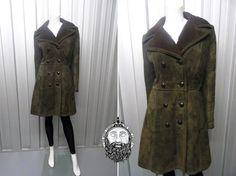 Vintage 70s Olive Green Sheepskin Coat Shearling by ZeusVintage, £45.00