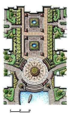 Accent paving and water feature landscape architecture design, landscape sketch, architecture student, landscape Landscape Architecture Drawing, Landscape Sketch, Landscape Design Plans, Garden Design Plans, Landscape Concept, Concept Architecture, Architecture Student, Computer Architecture, Minecraft Architecture
