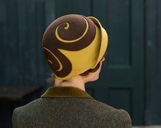 brown and gold cloche by behidadolicmillinery on Etsy