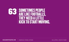 People are like footballs...