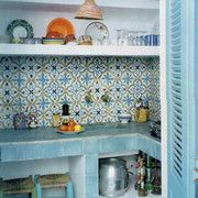 SOUTHERN TILES, Zementfliesen, Spezial-Dekor: Provencal, hellblau 20x20 cm