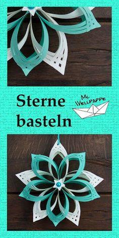 Basteln und mehr...: Sterne basteln mit Papier zu Weihnachten: schöne W...