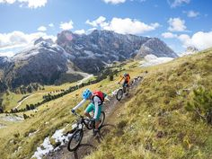 Riding in the Dolomites