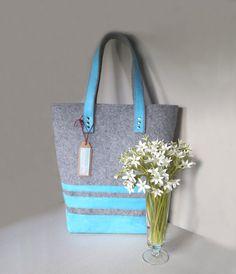 Blue bag bag on arm women hobo bag women bag by Malikdesign