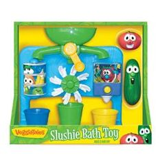 #VeggieTales Slushie #Bath #Toy Fun for the kids!