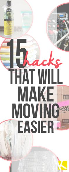 These moving tips are going to save you time and money! Whether your downsizing or moving into your first home, these tricks will make the process easier! I would have NEVER thought of #3--genius!
