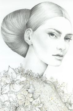 Magdalena represented by Caroline Maréchal. Fashion illustration on Artluxe Designs. #artluxedesigns