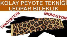 Motif Leopard, Leopard Pattern, Peyote Patterns, Beading Patterns, Beaded Bracelets Tutorial, Beading Tutorials, Easy, Beaded Jewelry, Bead Jewelry