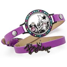 Eye Candy Purple Double Leather Wrap ❤️ Shop online anytime at crystalstary.origamiowl.com 😊