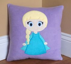 Elsa Pillow by on Etsy Labor Day Crafts, Camping Crafts For Kids, Patriotic Pictures, Space Themed Nursery, Craft Projects, Sewing Projects, Lantern Craft, Slumber Party Games, Blue Crafts
