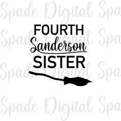 → Get off your order when you buy 2 items from this shop - discount shown at checkout Fourth Sanderson Sister SVG, PNG, DXF & JPG - Halloween SVG Halloween Arts And Crafts, Halloween Vinyl, Halloween Silhouettes, Halloween Clipart, Halloween Quotes, Halloween Projects, Halloween Kids, Halloween Table, Halloween Season