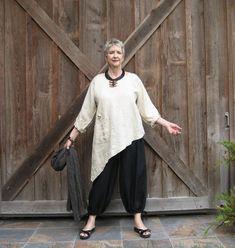 linen contemporary ethnic asymmetrical top blouse ready to ship