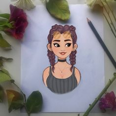 Quick little sketch! I really liked the movie, Diana was so cute and innocent and yet still a badass, I loved her! Cartoon Art Styles, Cartoon Drawings, Cute Drawings, Arte Sketchbook, Art Inspiration Drawing, Digital Art Girl, Marker Art, People Art, Character Drawing