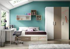 Dormitorio juvenil Nidos Ambiente BASIC13_H110A ++++ COLORES ++++