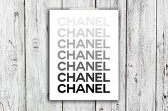 Iconic Chanel Logo Digital Download  Art  Canvas  by TypeAndStyle, $6.00