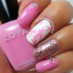 Amazing, and very inspiring nails by @paperkraftnpolish in aid of breast cancer awareness month! YAY or NAY? #Padgram
