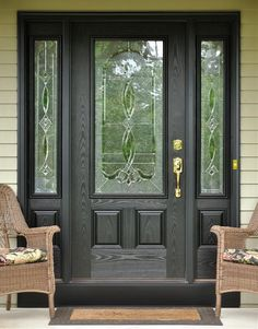 black front entry door with sidelights - Google Search