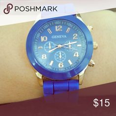 Watch Soft silicone strap watch. Color blue, as seen in picture! Price listed is for the Watch! Looks so nice with this bundle, ask for the bundle price. Everything in the listing is available ‼️  Accessories Watches