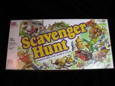 Vintage Board Game MB Scavenger Hunt Board Game 1983
