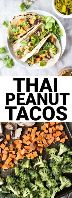 Thai Peanut Tacos: loaded with flavor and topped with an addictive homemade Thai Peanut Sauce! A naturally vegan and gluten free dinner.    fooduzzi.com recipe