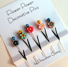 Decorative sewing pins using fimo clay --- love it!