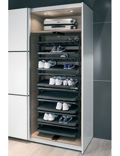 Häfele e link Online Catalogue - Furniture Fittings - Living Room, Bedroom, Bathroom and Storage Space Equipment - Wardrobe Fittings and Accessories - Shoe rack pull-out Wardrobe Shoe Rack, Wardrobe Storage, Shoe Storage, Bedroom Storage, Storage Spaces, Shoe Rack Pull Out, Diy Shoe Rack, Belt Rack, Tie Rack
