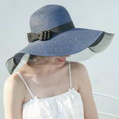 c76bfc40957b9 Bow floppy sun hat for women summer beach wide brim straw hats package
