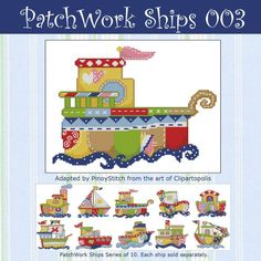 Patchwork Ships 003 - Click Image to Close