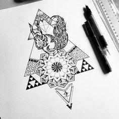 Geometric squirrel tattoo commission on Behance