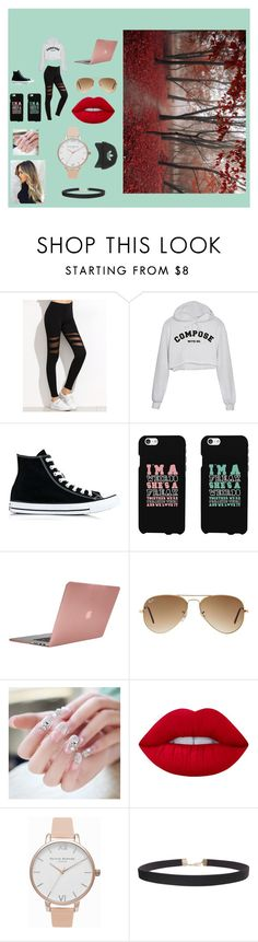 """""""fall"""" by laurenj709 on Polyvore featuring Converse, Incase, Ray-Ban, Lime Crime, Olivia Burton, Humble Chic and Topshop"""