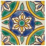 Casablanca Market x Ceramic Granada Decorative Tile in Green/Yellow Mediterranean Tile, Italian Tiles, Tuile, Spanish Tile, Spanish Colonial, Clay Tiles, Decorative Tile, Tile Art, Tile Patterns