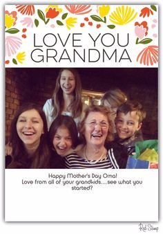 Red Stamp's free app for iOS and Android: Mother's Day ecards for Grandmothers too
