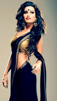 Pryanca Talukdar in black and gold?