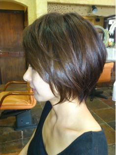 I don't think I could ever be so brave to cut all my hair off but if I did I'd want this Chic haircut Love Hair, Great Hair, Gorgeous Hair, Beautiful, Pretty Hairstyles, Bob Hairstyles, Straight Hairstyles, Bob Haircuts, Hairstyle Ideas