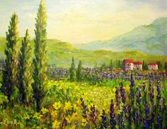 Tuscan Painting - Tuscan Laveder by Lou Ann Bagnall