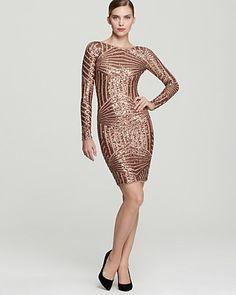 BCBGMAXAZRIA Sequin Dress - Long Sleeve | Bloomingdale's#fn%3Dspp%3D2