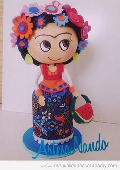 Muñeca Fofucha Frida kahlo