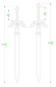 Master sword blueprint twilight princess by fridator cosplay legend of zelda master sword template by solvash malvernweather Images
