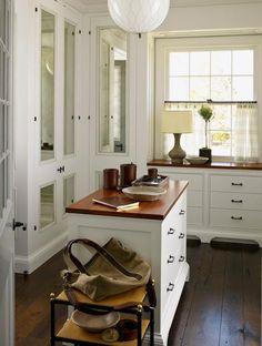 steven gambrel closet, mirrors on doors