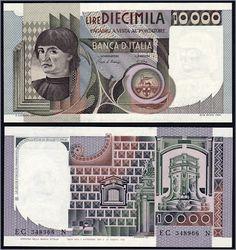 Collezione Personale di Banconote Italiane: 0.2.5. - 10000 LIRE BUSTO D'UOMO