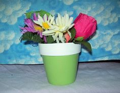 Hey, I found this really awesome Etsy listing at https://www.etsy.com/listing/229243014/sweet-pea-green-painted-terra-cotta
