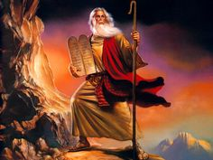 Moses by Boris Vallejo Wallpaper Images Bible, Bible Pictures, Religious Pictures, Boris Vallejo, Bible Art, Bible Scriptures, Image Jesus, Religion, Moise